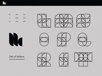 Display letterforms typography display circles shapes solid line minimalism geometric experimental type