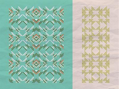 Same shapes different pattern shapes theme repetition pattern embelish color fun kaleidascope geometry tringle motif