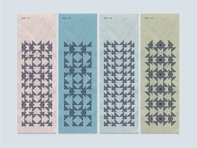 Motif ideas motif pattern embelishment fun color rhythm repetition lines triangles shapes geometry