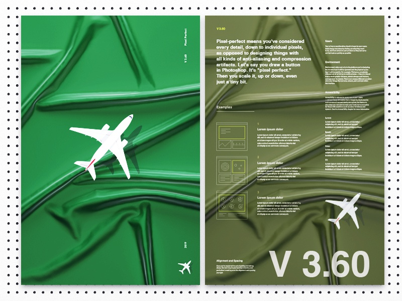 Airplane Poster Idea color green image grid typography content information technical illustration layour poster airplane