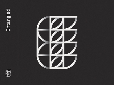 Entangles overlap minimalistic symbol type font typography modern line letter geometric dun interesting form display clean logo branding alphabet abstract 3d