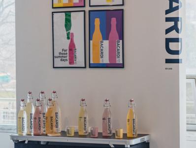 Bacardi Bar Exhibition packaging exhibition typography branding vector logo design illustration