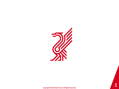 Liverpool bird lfc the reds liver bird design illustration animal logomark logo
