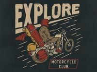 Motorcycle club motorcycle apparel design teesdesign badge badass artwork apparel illustration design vintage branding
