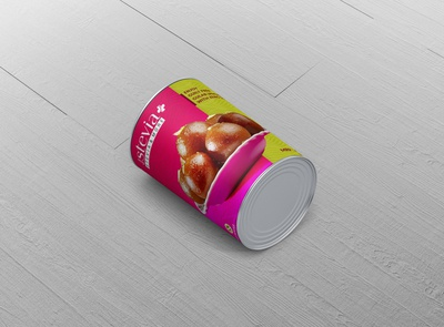Tin Package Design For Gulab Jamun Sweets