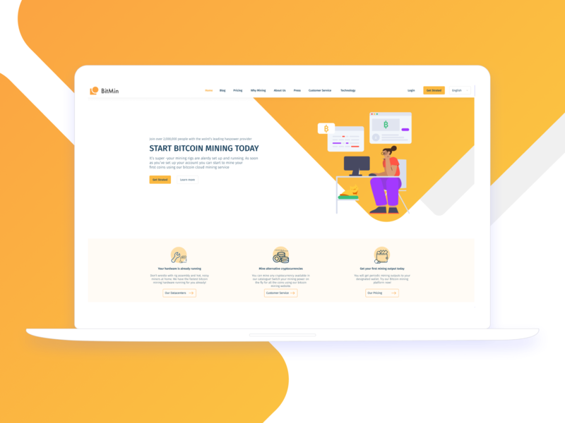 Landing Page type minimal logo illustrator icon flat branding animation app illustration design ui