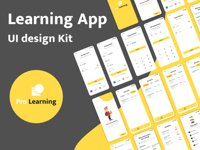 Pro Learning App Ui Design minimal logo illustrator flat icon branding animation app illustration web design