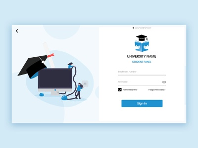 University web login page ui web icon logo graphic design app minimal art ux ui design