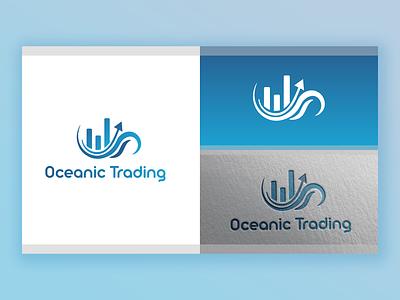 Oceanic Trading Logo Design 3d animation branding logo illustration web graphic design minimal art ui ux design