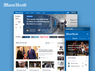 Miami Herald Redesign