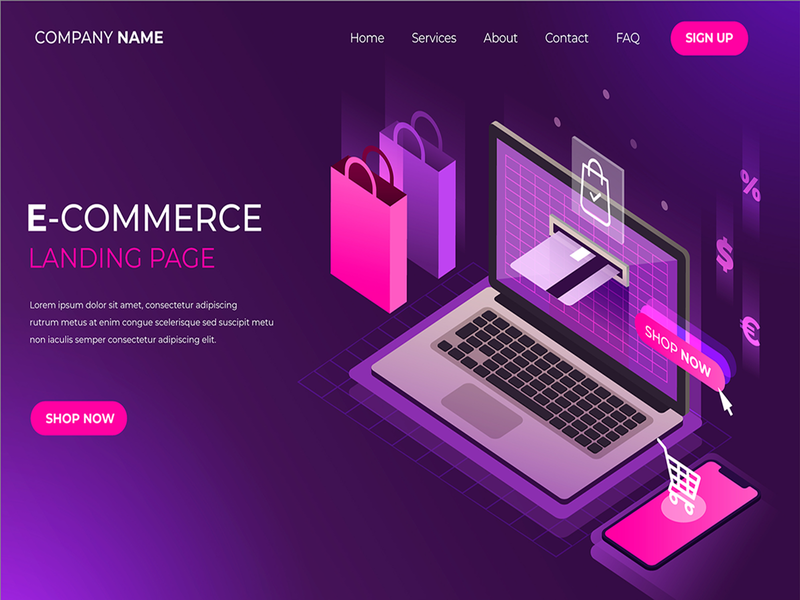 E-Commerce Landing page bussiness website wordpress elementor website single product sales funnel lead page promotion page one page sales page lnading page