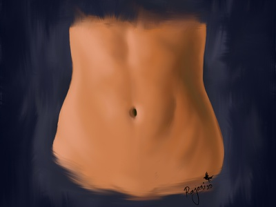 midriff belly button girl lady body design creative digital illustration digitalart art digital artwork digital artist digital painting illustration