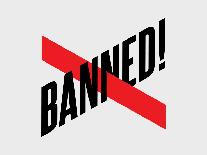 Banned! logo books banned