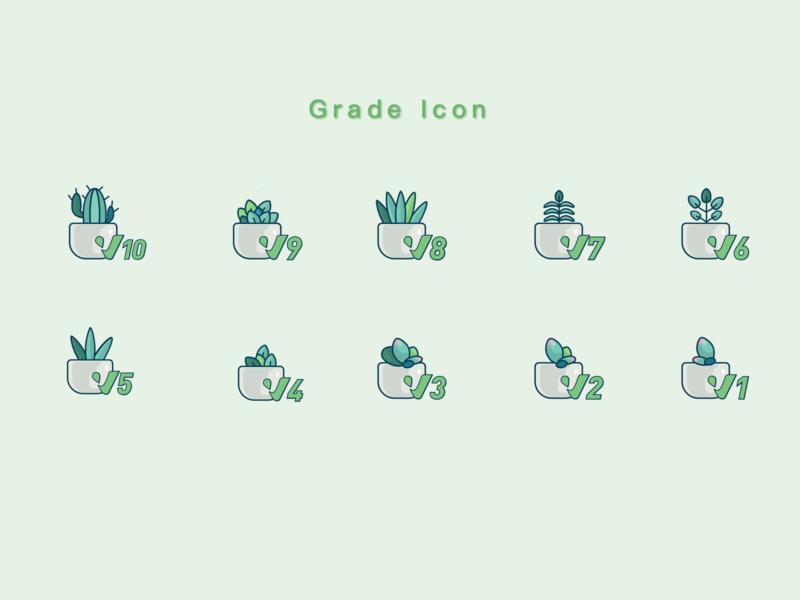 Grade Icon vector icon illustration