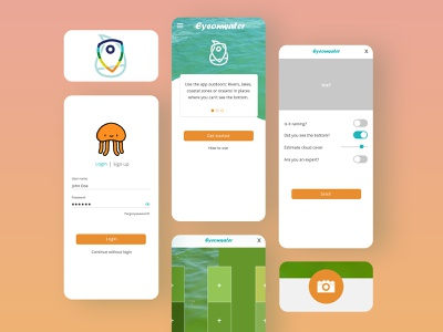 EyeOnWater Colour App doodle research citizen application ui design redesign typography concept phone clean water mobile interface user interface ux ui uidesign branding design app