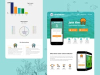 EyeOnWater Colour - homepage research redesign ux water concept website webdesign web typography statistics ui user interface interface landingpage homepage doodle design clean branding app