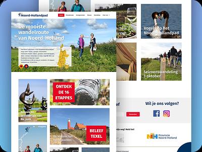 Website Noord-Holland Pad website web user interface uidesign typography responsive redesign photography mobilefirst layout landing page landing interface ux ui homepage hiking webdesign digital design