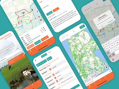 WNH App hike uidesign application redesign research visual design ui design map android ios mobile branding design app user interface ux ui design interface screens app