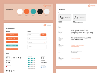 Design system icons ui components color palette typogaphy user interaction simple clean clean ui style guide uxdesign design styleframe uidesign concept interface user interface ux ui design system styleguide