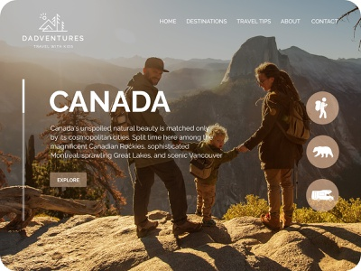 Travel website clean homepage website user interface design concept uidesign ux ui interface