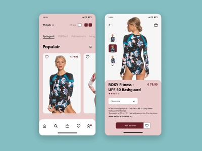 Surfwear Mobile App Design ui design design app user interface minimal mobile ux design mobile apps mobile ui mobile app interface ui uiux uidesign concept design app app design mobile app design