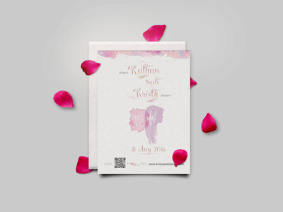 Save the date~Kristy weds Kalyan print colorful savethedate watercolor pink feminine invitation stationery invite wedding