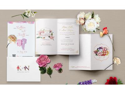 Kristy weds Nani Kalyan Wedding Invite-3 savethedate marriage colorful floral feminine print invitation wedding invite