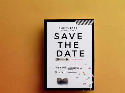 Modern | Minimal Save the date invitation white black clean save the date savethedate invite wedding
