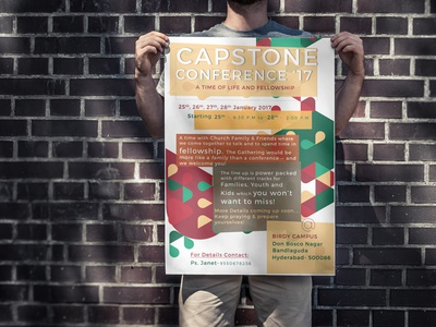 Poster for Capstone Church design print christian poster christmas flyer church