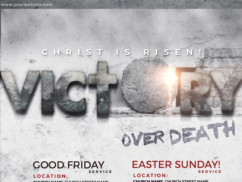 Easter/Good Friday Christian Graphic victory death goodfriday hope faith love church god christ easter jesus