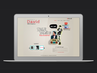 Quirky website theme for creatives creatives dj song singer funky playful colorful fun psd website site web