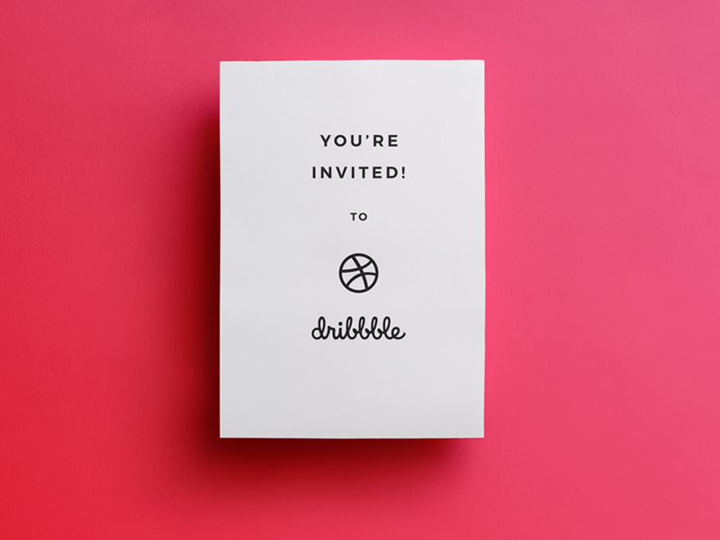 1 Dribbble Invite! invitation designer drafter draft day draft invite dribbble