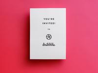 1 Dribbble Invite! invitation designer drafter draft day draft invite dribbble