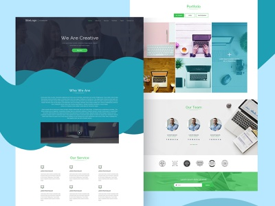 Website Page branding business creative design portfolio web typography template mobile app website business color design landing page mokeup ux ui homepage design flat website vector design