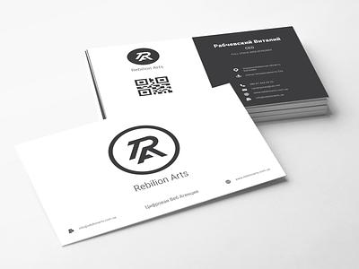 RAA Bussines Cards minimal flat branding icon typography vector logo illustration