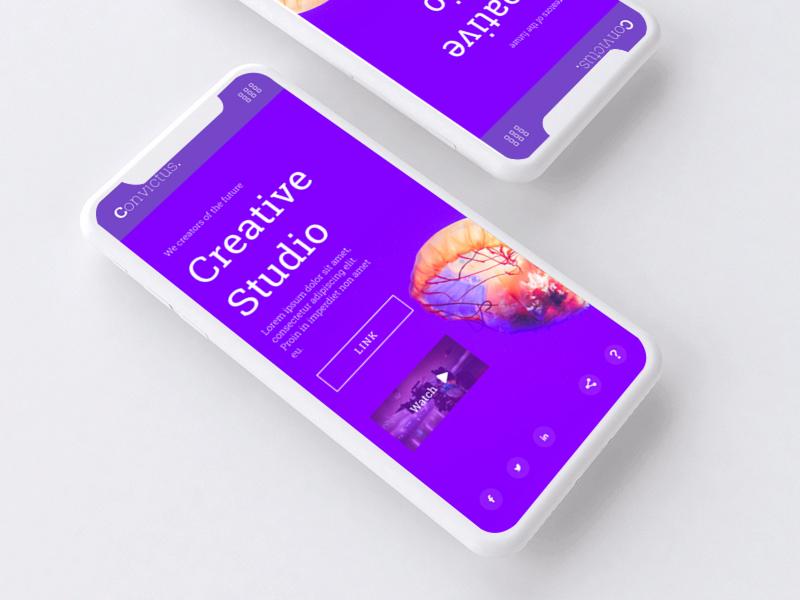 Convictus. Project Mobile Mockup web website ui ux minimal @uiux @webdesign @prototyping @uxui @web @prototyping design @uxui @webdesign @prototyping