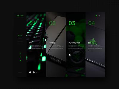 Razer Site (APP) UXUI Design ux web minimal app website branding @uiux @webdesign @prototyping @uxui @web @prototyping @uxui @webdesign @prototyping design