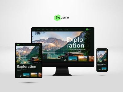 Square Landing Page flat website web branding @uiux @webdesign @prototyping @uxui @web @prototyping @uxui @webdesign @prototyping design