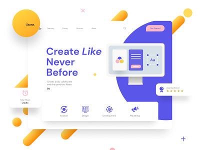Stone -  SaaS Webflow Template typography template website saas flat @uiux @webdesign @prototyping @uxui @web @prototyping @uxui @webdesign @prototyping design