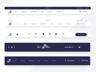 Navigations for FotoDino Studio icon website minimal ux branding web @uiux @webdesign @prototyping @uxui @web @prototyping @uxui @webdesign @prototyping design