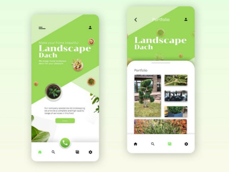 Landscape Dach App @uxui @webdesign @prototyping