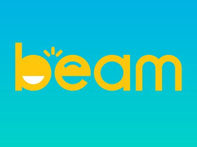 Beam logo broadcast identity branding app smile