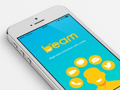 Beam App beam iphone app ui ux ios branding redesign