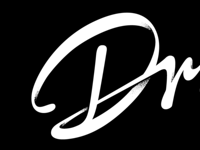 """D"" for detail handwritten script brush wordmark identity"