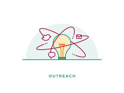 Outreach icon illustration seo icon illustration