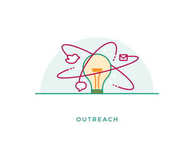 Outreach icon illustration seo icon illustration