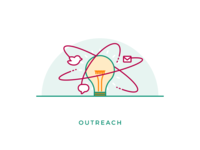 Outreach icon illustration