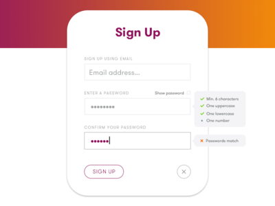 Daily UI 001 sign-up ui 001 dailyui
