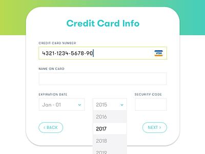 Daily UI 002 credit-card ui 002 dailyui