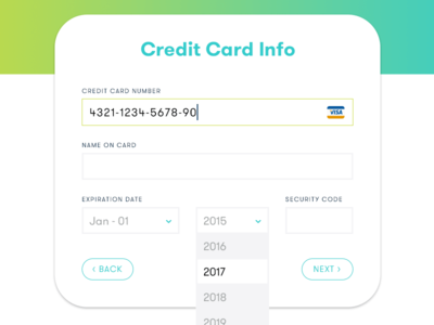 Daily UI 002 credit-card ui 002 dailyui